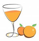 Постер, плакат: Апельсиновый сок