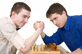 Wrestling Mans And Chess