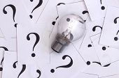 Light Bulb And Question Mark