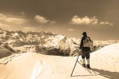 Viejo esquiador