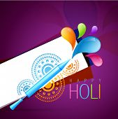 holi festival background with pichkari