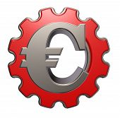 Euro-symbool en Gear Wheel