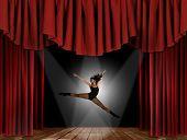 Modern Jazz Street Dancer Jumping