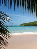 Glorious Beach At Anse Marcel On St Martin