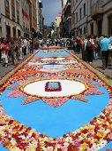 Corpus Cristi flower carpets in Tenerife, Canary Islands