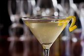 Dirty Martini With A Lemon Twist