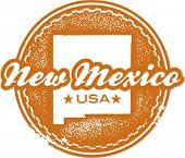 Vintage-Stil neu Mexiko US-Bundesstaaten Stamp