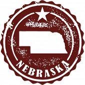 Sello de estado de Estados Unidos de Nebraska de estilo vintage