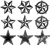 Antiguas estrellas occidental Grunge