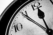 Retro Clock Time Five To Twelve