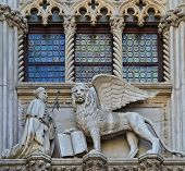 Venice, Italy Architecture Fragment Doge's Palace Century