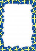 Sweden flag border