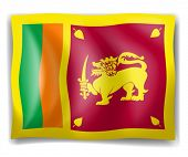 Illustration of the flag of Sri Lanka on a white background