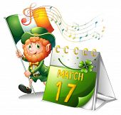 Illustration of the celebration for St. Patrick's Day on a white background