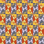 Seamless mosaic pattern. Vector illustration.