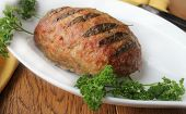 stock photo of meatloaf  - Meatloaf with sage and parsley  - JPG
