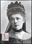 GERMANY - CIRCA 1991: A stamp printed in Germany shows Bertha von Suttner Nobel Peace Prize Winner