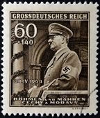 GERMAN REICH - CIRCA 1944: A stamp printed in Germany shows image of Adolf Hitler