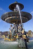 Fountain At Place De La Concorde In Paris