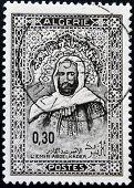 ALGERIA CIRCA 1968: stamp printed by Algeria shows Emir Abd-el-Kader circa 1968