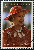 AUSTRALIA - CIRCA 1993: stamp printed in Australia shows Queen Elizabeth II circa 1993