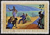 BURUNDI - CIRCA 1970: A stamp printed in Burundi shows David Livingstone circa 1970