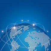 Global technology mesh network vector