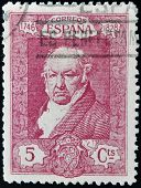 SPAIN - CIRCA 1930: A stamp printed in Spain shows Francisco de Goya y Lucientes circa 1930
