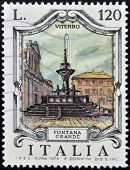 ITALY - CIRCA 1979: a stamp printed in Italy shows Great Fountain Viterbo circa 1979