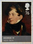 Stamp dedicated to Kings & Queens House of Hannover shows George IV (1820 - 1830)