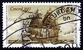 Postage Stamp Germany 1983 Concord, Immigration To Us