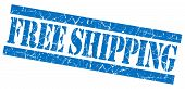 Free Shipping Blue Grunge Stamp