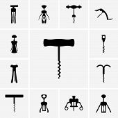 Corkscrew icons