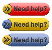 need help or wanted helping hand assistance or support desk