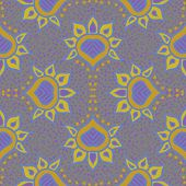 hand drawn moroccan seamless fabric vector design