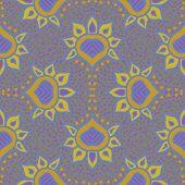 hand drawn moroccan seamless fabric vector design