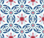 vector illustration of mandala, seamless pattern