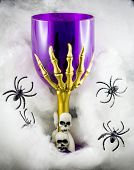 Halloween Goblet  With Skulls