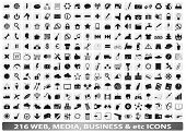 216 web, business icons/buttons