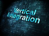 Business concept: Vertical Integration on digital background