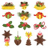 Collection of Christmas holiday symbols