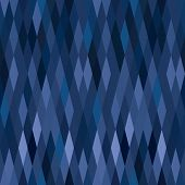 picture of harlequin  - blue harlequin argyle vector seamless pattern with diamonds for print - JPG