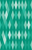 stock photo of oz  - abstract green harlequin argyle vector seamless pattern with lozenge elements - JPG