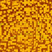 Orange Abstract Image Of Cubes Background