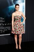 NEW YORK-OCT 1: Actress Carla Gugino attends the 'Gravity' premiere at AMC Lincoln Square Theater on