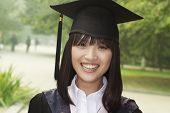 Young woman graduating from university