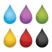 Drops . Vector illustration