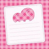Baby girl announcement card. Vector illustration