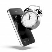Alarm clock with smartphone