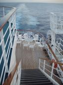 Walkway To Lower Deck On Cruise Ship